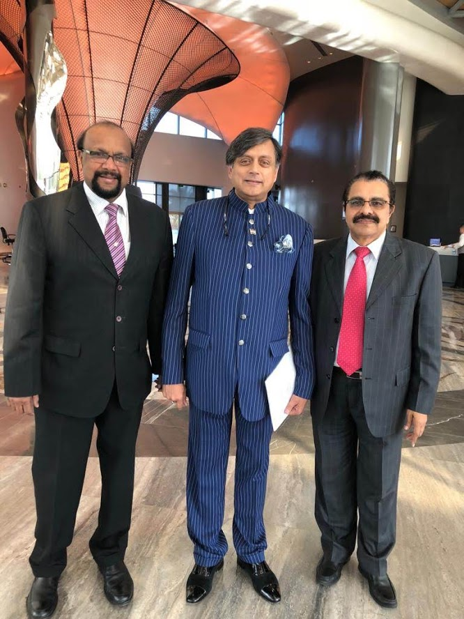 With Shashi Tharoor in Bahrain