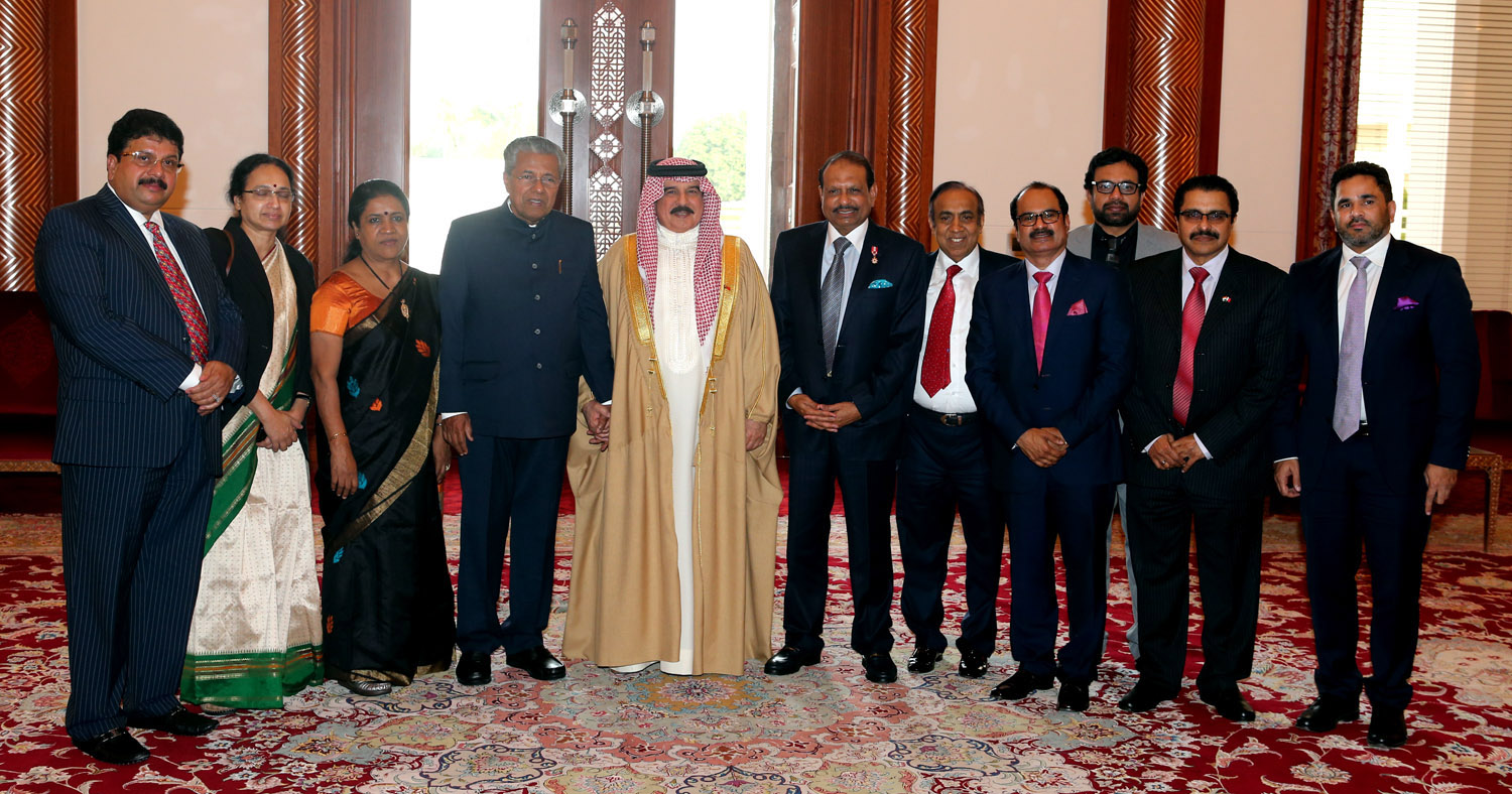 With Bahrain`s King